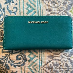 Teal Michael Kors wallet